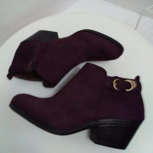 Life Stride  Kam Brown Faux Suede Bootie 8 NEW